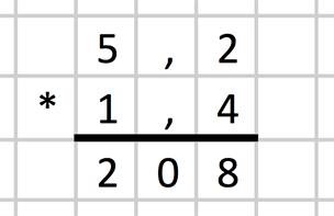 Multiplikation med decimaltal (Årskurs 7 75defd8a2b4d1