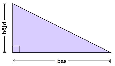 Räkna ut area på olika figurer